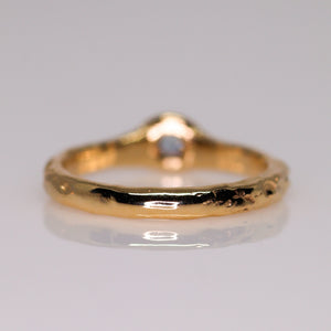Halo: 14K ring (with 6 diamond/sapphire options)