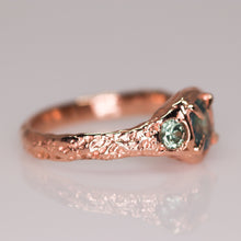 "Load image into Gallery viewer, ""Atara"": 14K rose gold parti sapphire crown ring (one of a kind)"