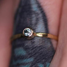 "Load image into Gallery viewer, ""Aria"" ring: 14K gold Montana sapphire stacking ring (made to order)"
