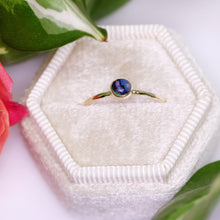 Load image into Gallery viewer, Tiny Full Moon ring: 14K yellow gold & opal dainty ring (limited edition (sizes 3–12))
