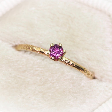 14K Idaho rhodolite garnet ring (Limited edition (3); 1 size 5.25 ready to ship)