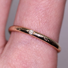 Load image into Gallery viewer, Ethereal ring: 14K eternity rings (diamond and band width options)