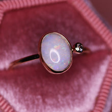 "Load image into Gallery viewer, ""Laurette"": 14K yellow gold & natural Australian opal ring"