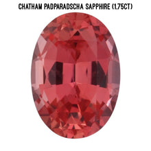 Load image into Gallery viewer, Chatham lab padparadscha sapphire (1.75ct)