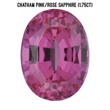Load image into Gallery viewer, Chatham lab pink/rose sapphire (1.75ct)