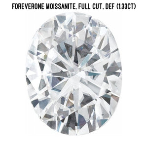 Forever One moissanite, full cut (1.33ct)