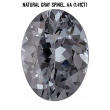 Load image into Gallery viewer, Natural gray spinel, AA quality (1.41ct)