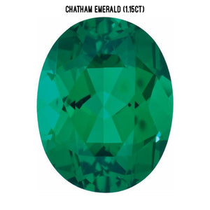 Chatham lab-grown emerald (1.15ct)
