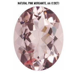 Natural pink morganite, AA quality (1.13ct)