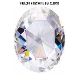 Rosecut moissanite, DEFcolor (0.66ct)