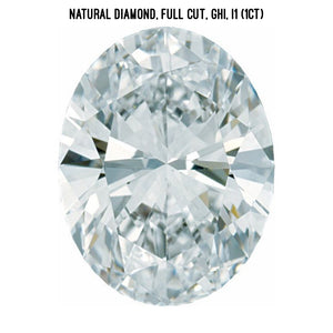 Natural diamond, I1 clarity (1ct)