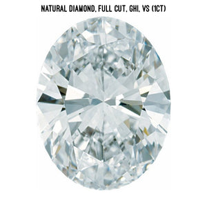 Natural diamond, VS clarity (1ct)