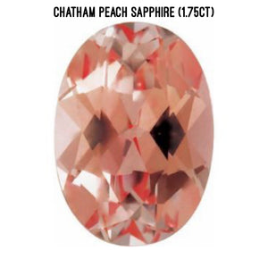 Chatham lab-grown peach sapphire (1.75ct)