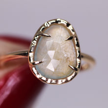 "Load image into Gallery viewer, ""Abilene"" ring: 14K rosecut sapphire ring (size 7; one of a kind)"