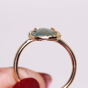 """Abilene"" ring: 14K rosecut sapphire ring (size 7; one of a kind)"