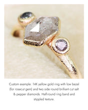 Load image into Gallery viewer, Create your own solitaire ring: 2.62ct pink/violet shield rosecut sapphire