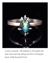 Load image into Gallery viewer, Create your own solitaire ring: 3.89ct pastel green rosecut Umba sapphire