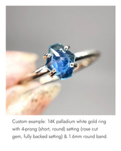 Load image into Gallery viewer, Create your own solitaire ring: 1.07ct rosecut pastel blue Umba sapphire