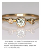 Load image into Gallery viewer, Create your own solitaire ring: 1.55ct Salt & Pepper round brilliant diamond