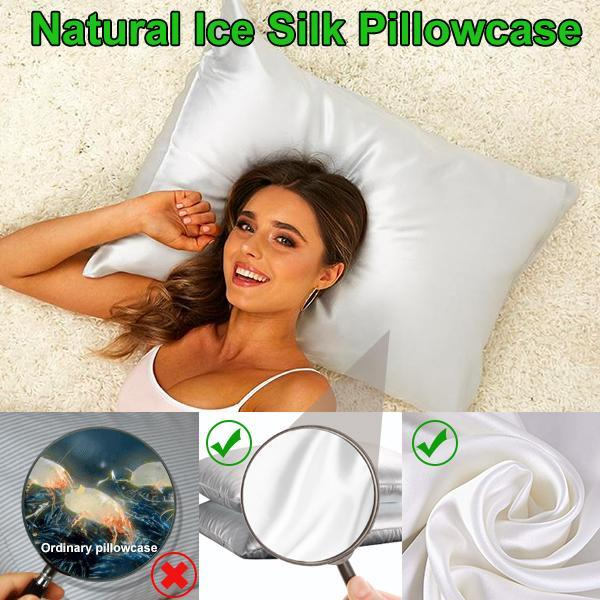 Natural Ice Silk Pillowcase