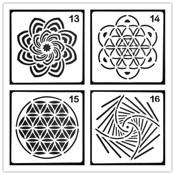 Reusable Art Painting Stencils (Set of 4)