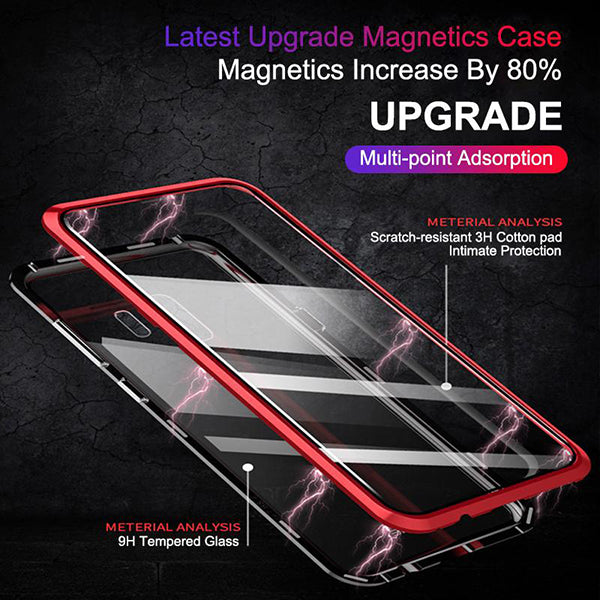 (50% OFF)2019 New Fashion Magnetic Adsorption Transparent Glass Cover Phone Case