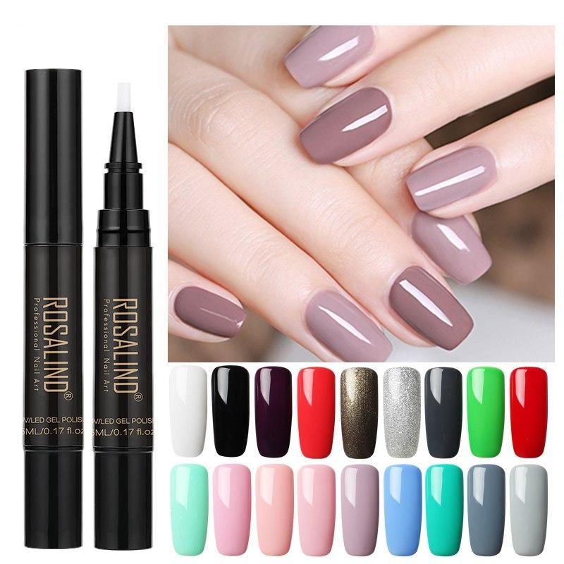 Gel Instant Nail Polish Pen 3 In 1 One-Step Easy