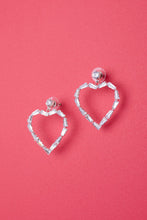 Love Me With Diamonds Heart Hoops