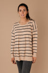Brand New Attitude Striped Sweater Top