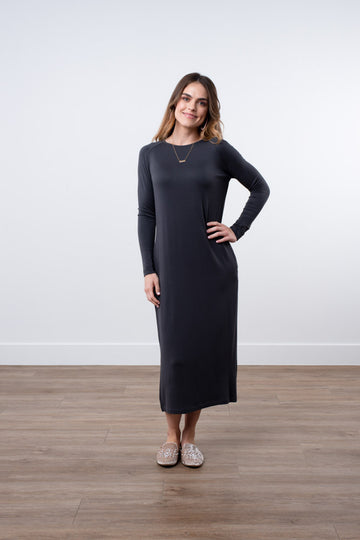 Raglan Sleeve Midi Dress