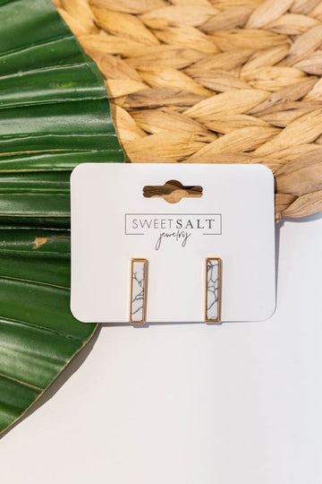 Marbled Rectangle Earrings