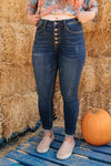 Judy Blue Just A Button Rise Jeans