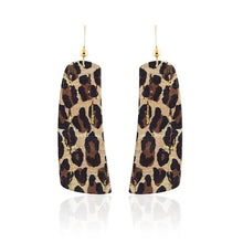 Leopard Cork Contour Leather Earrings