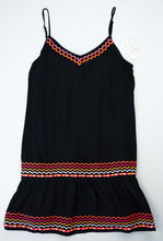 Zig Zag Embroidered Dress