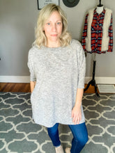 Heather Grey Hacci Boxy Tee