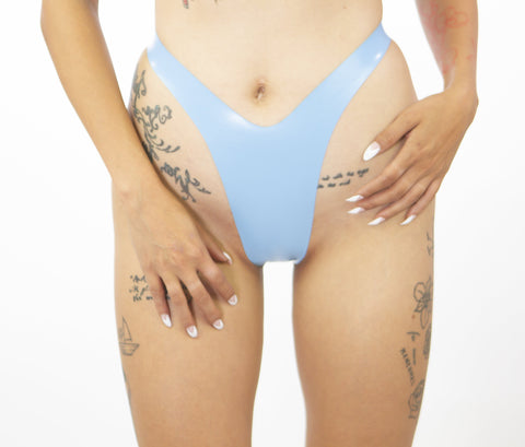 Baby Blue High Waisted Thong