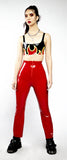 Red Bootleg Trousers