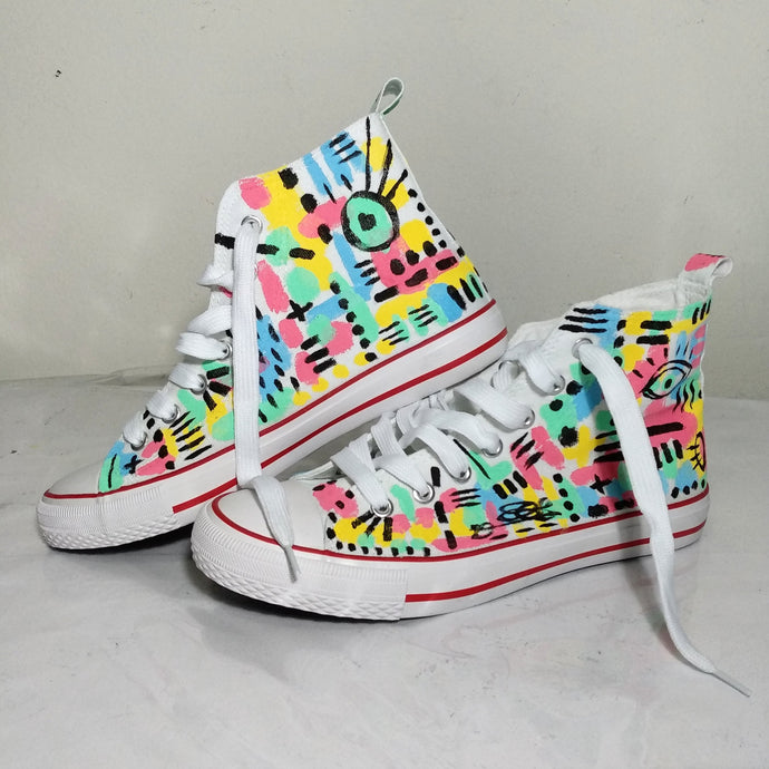 Handpainted Sneakers Color Pattern