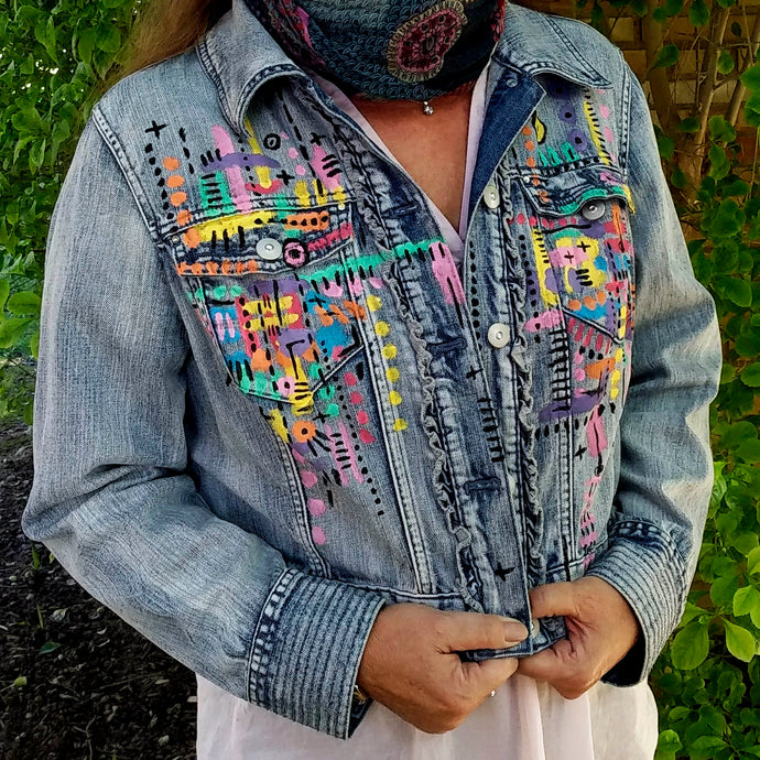 [Preorder] Handpainted Denim Jacket