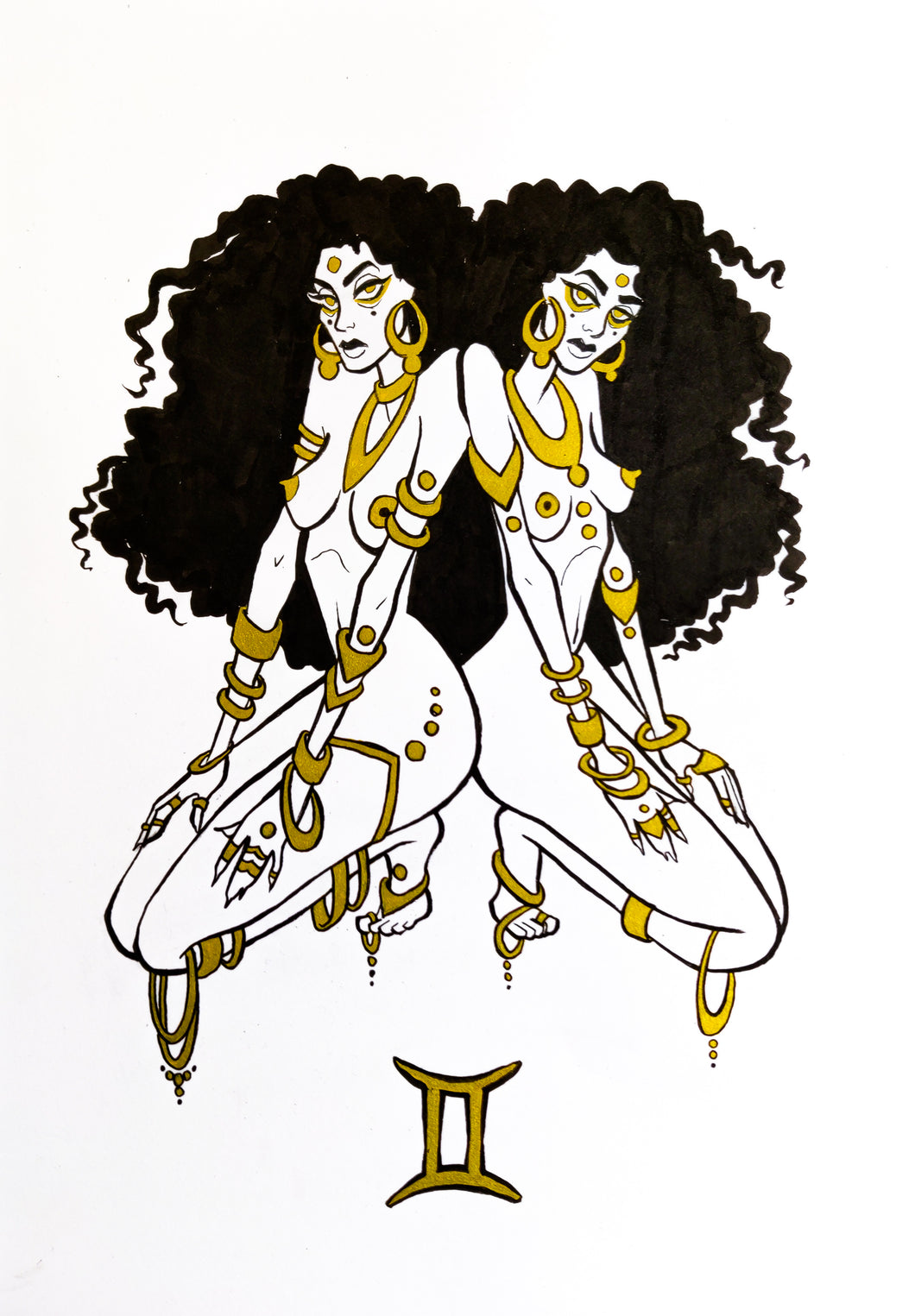 Original Artwork - Gemini - Zodiac Series