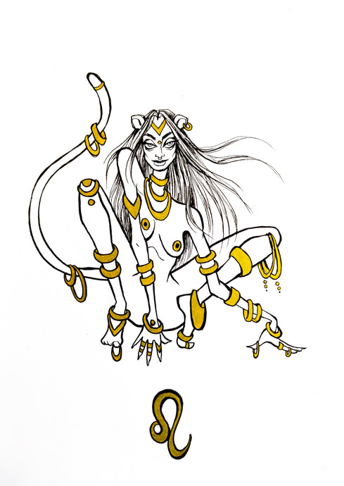 Original Artwork - Leo - Zodiac Series