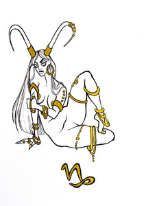 Original Artwork - Capricorn - Zodiac Series