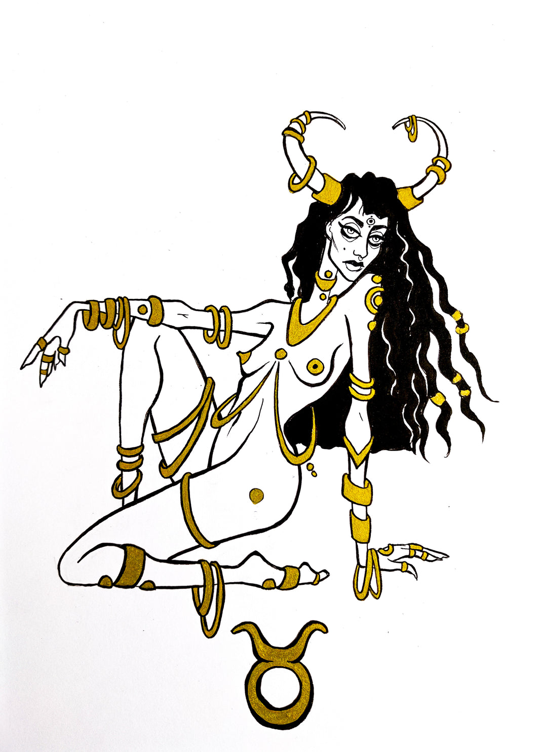 Original Artwork - Taurus - Zodiac Series