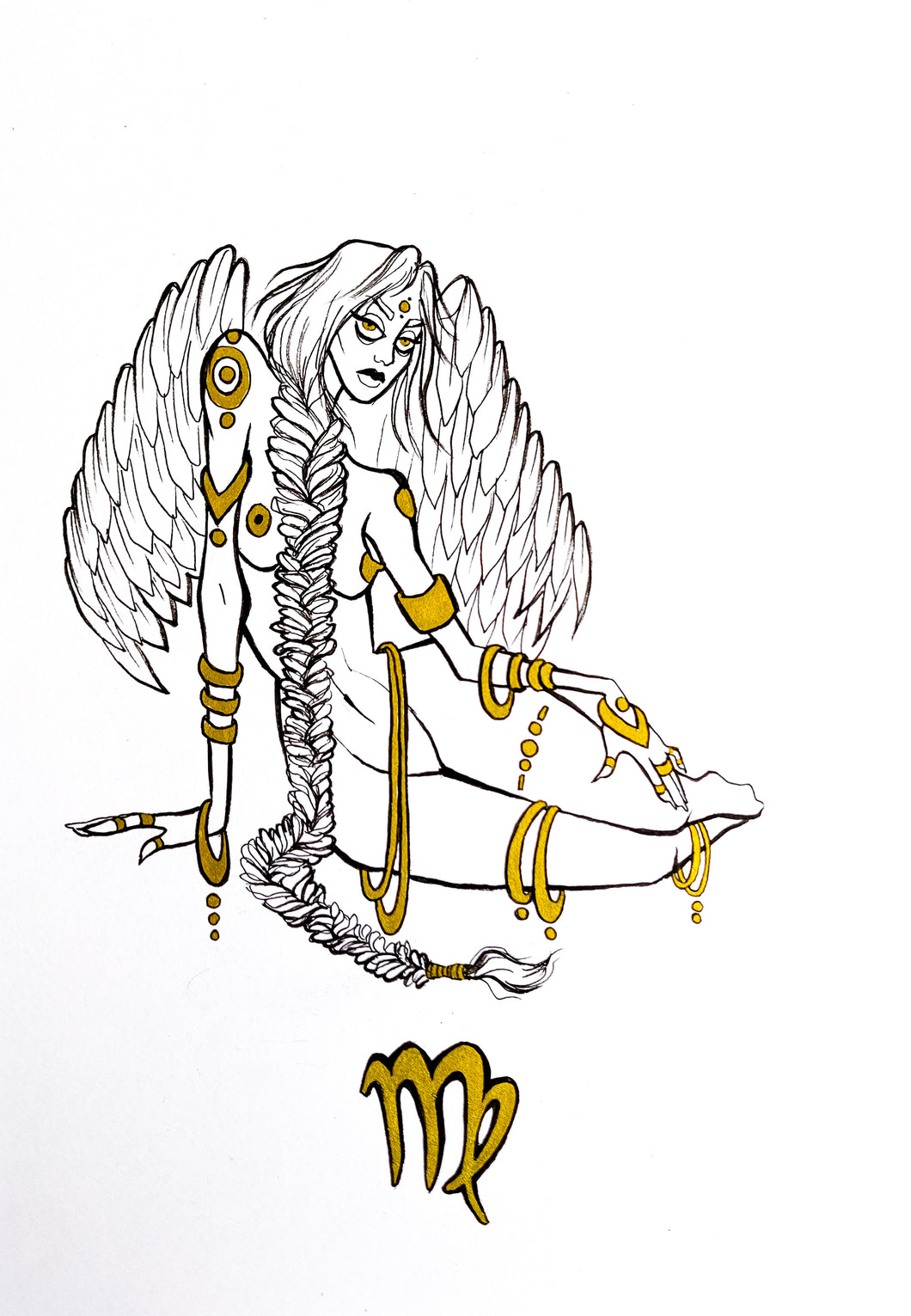 Original Artwork - Virgo - Zodiac Series