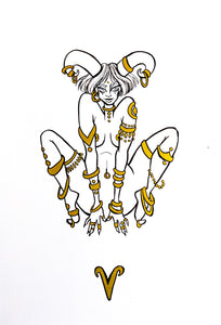 Original Artwork - Aries - Zodiac Series