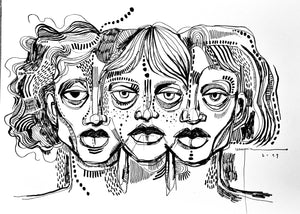 Girls Serie Original Artwork
