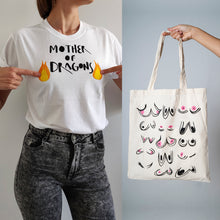 Cargar imagen en el visor de la galería, PACK OFFER Mother of Dragons T-shirt + Tote Bag