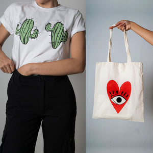 PACK OFFER Cactus T-shirt + Tote Bag