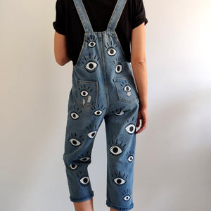 Denim Eyes Pattern Overall - Limited Edition