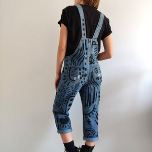 Denim Black Pattern Overall - Limited Edition